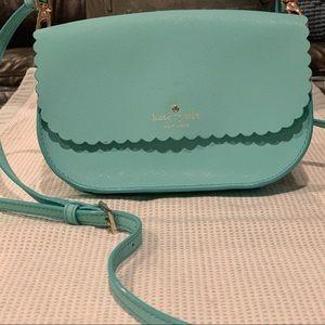 Tiffany Blue Kate Spade w/ scalloped detail bag